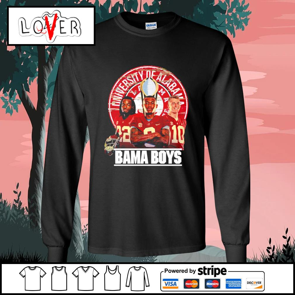 Alabama Crimson Tide University of Alabama Bama boys s Long-Sleeves-Tee