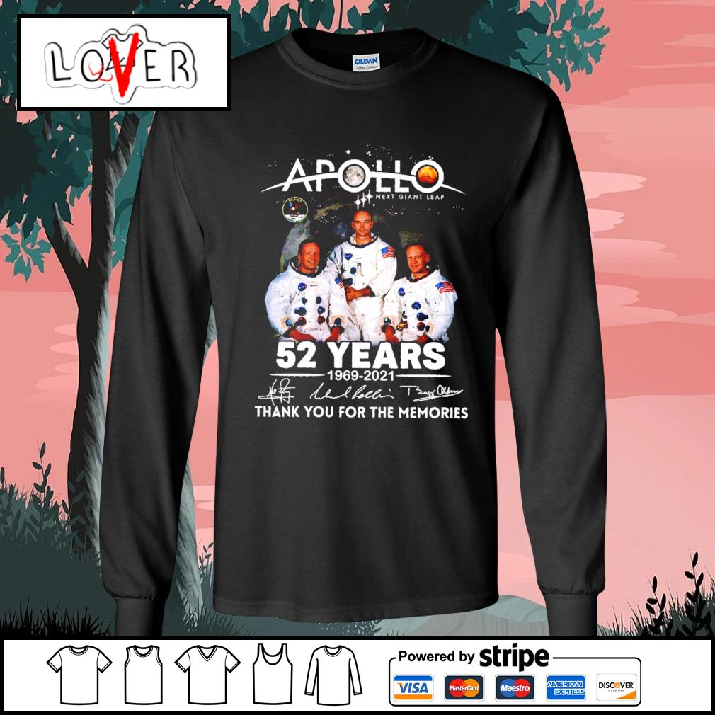Apollo next giant leap 52 years 1969 2021 thank you for the memories signatures s Long-Sleeves-Tee