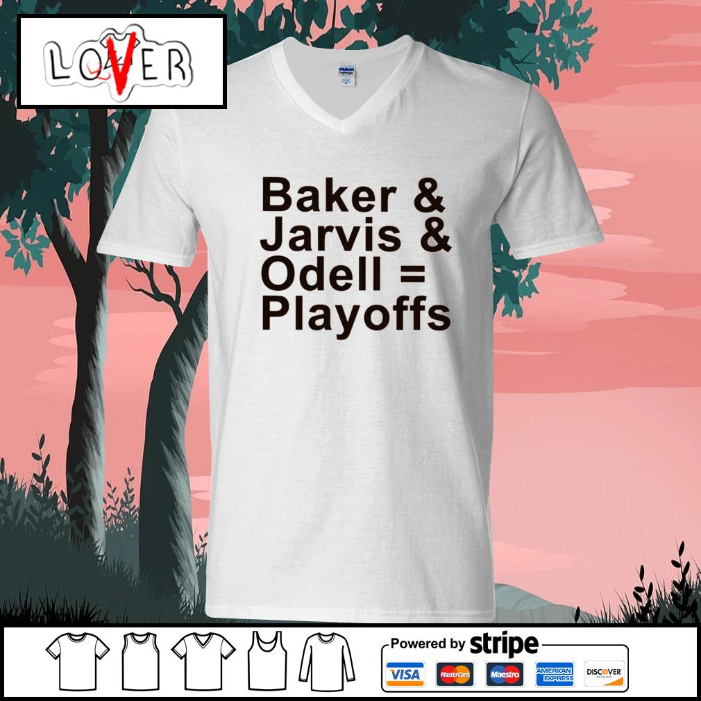 Baker and Jarvis and Odell Playoffs s V-neck-T-shirt