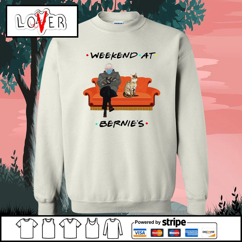 Bernie Sanders and Bengal cat weekend at Bernie's s Sweater