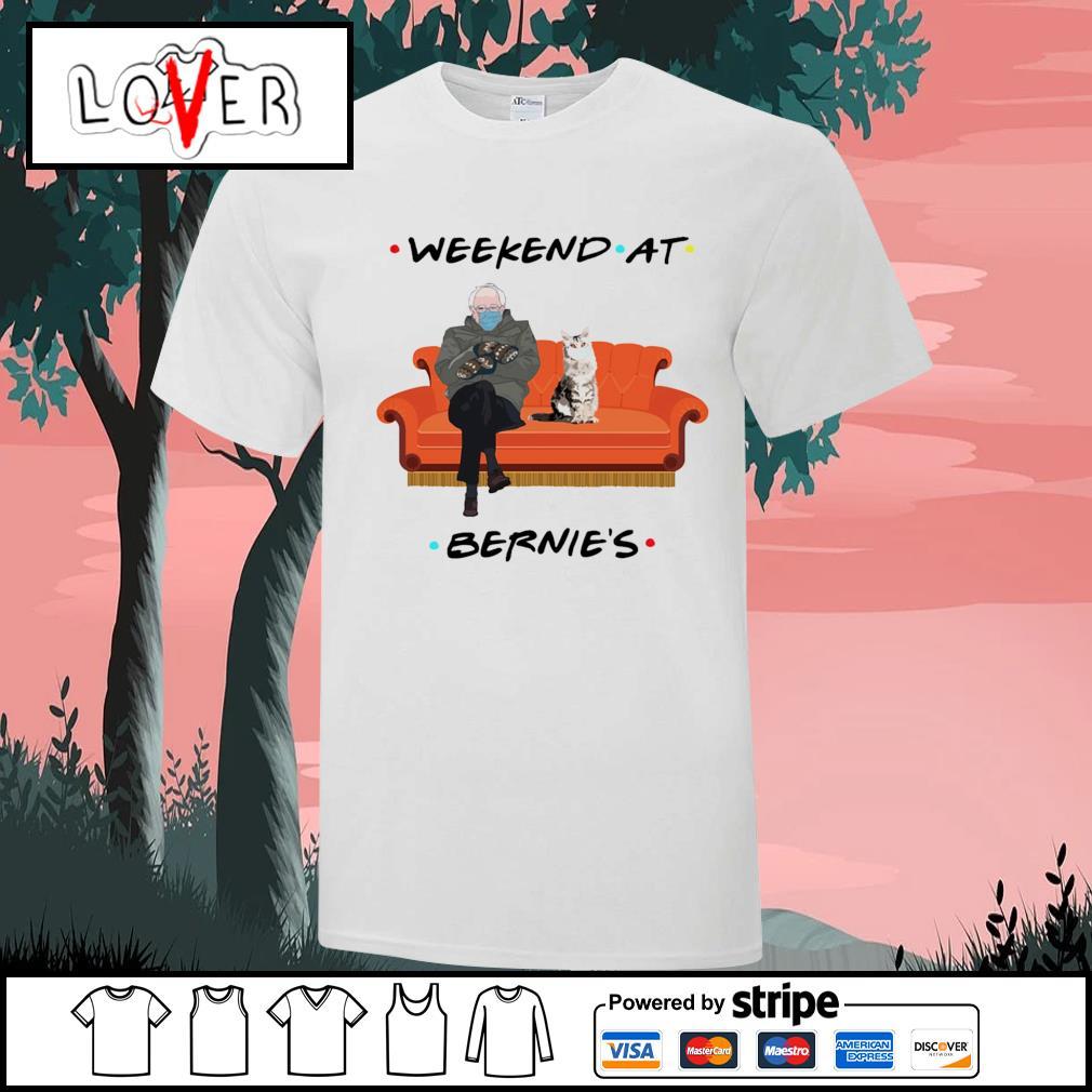Bernie Sanders and cat weekend at Bernie's shirt