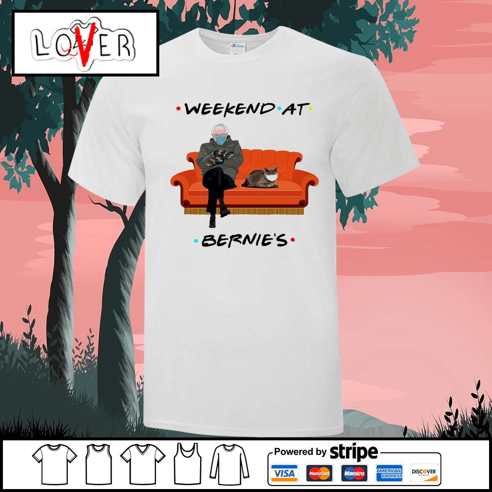 Bernie Sanders and Chartreux cat weekend at Bernie's shirt
