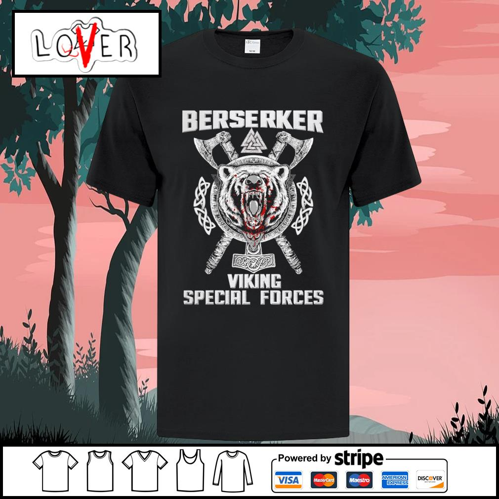 Berserker viking special forces bear shirt