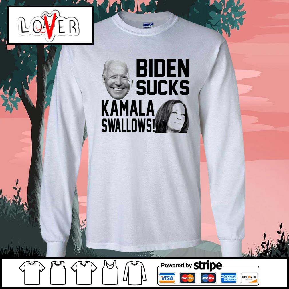 Biden sucks Kamala swallows s Long-Sleeves-Tee