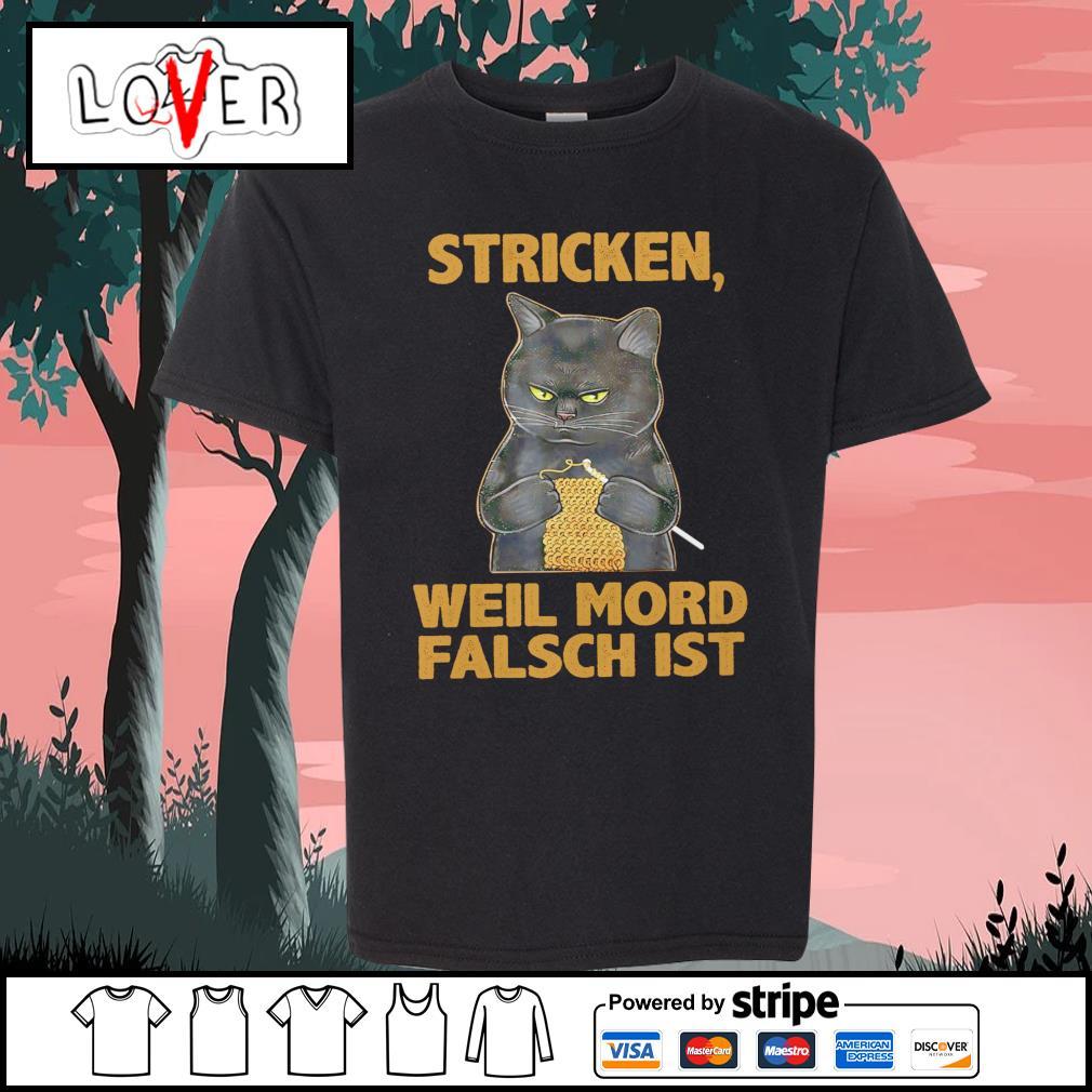 Black cat stricken weil mord falsch ist s Kid-T-shirt