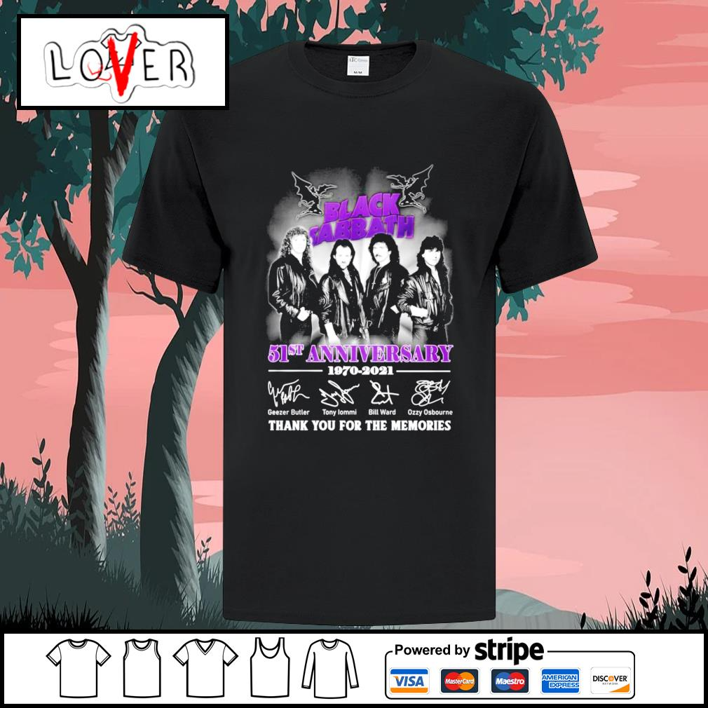 Black Sabbath 51st anniversary 1970 2021 signatures shirt