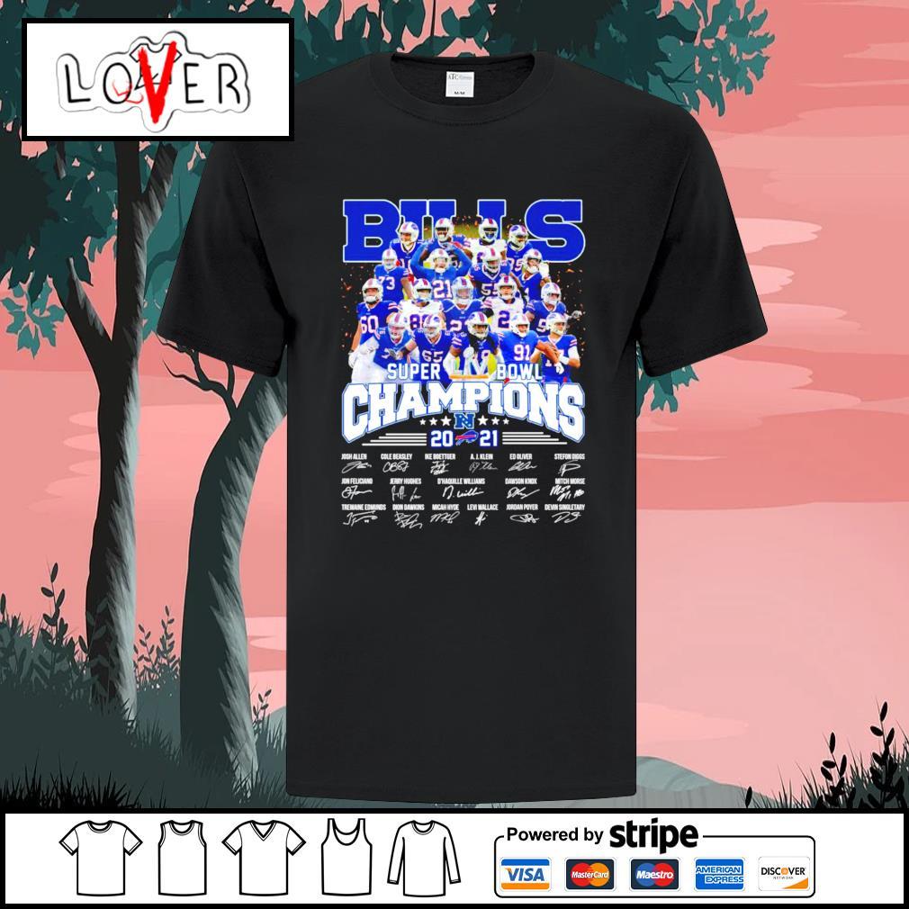 Buffalo Bills super bowl champions 2021 signatures shirt