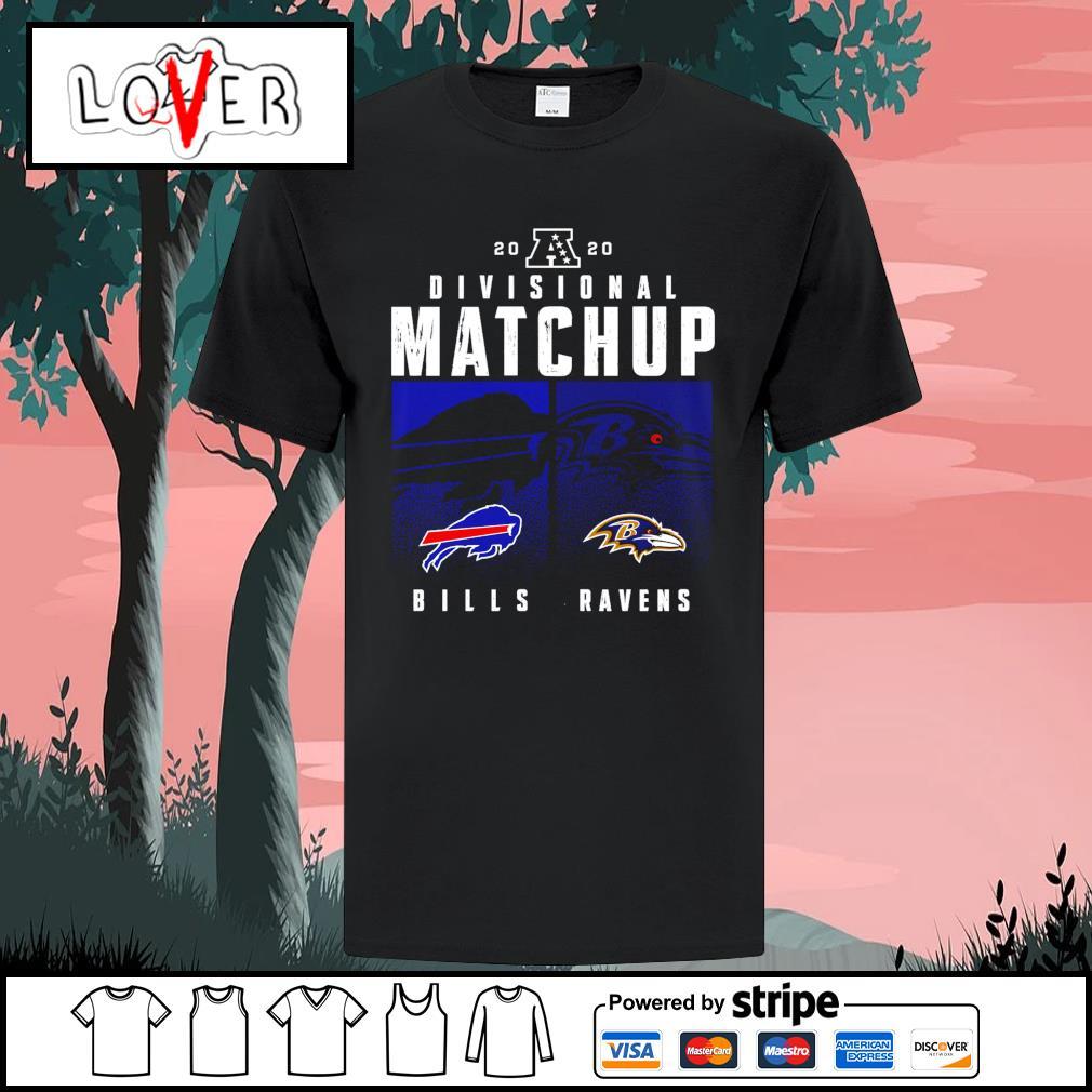 Buffalo Bills vs Baltimore Ravens 2020 NFL Playoffs Divisional Matchup shirt