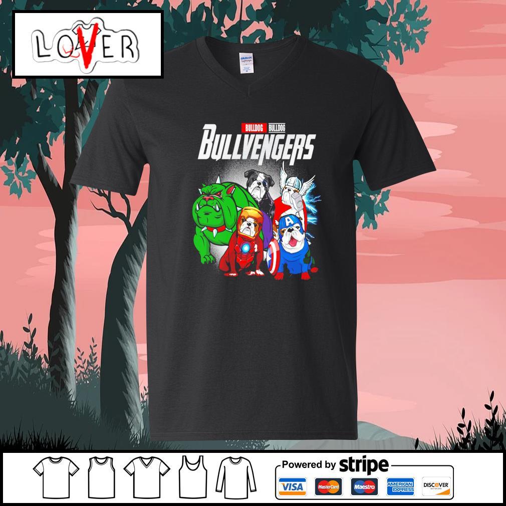 Bulldog Bullvengers Avengers s V-neck-T-shirt