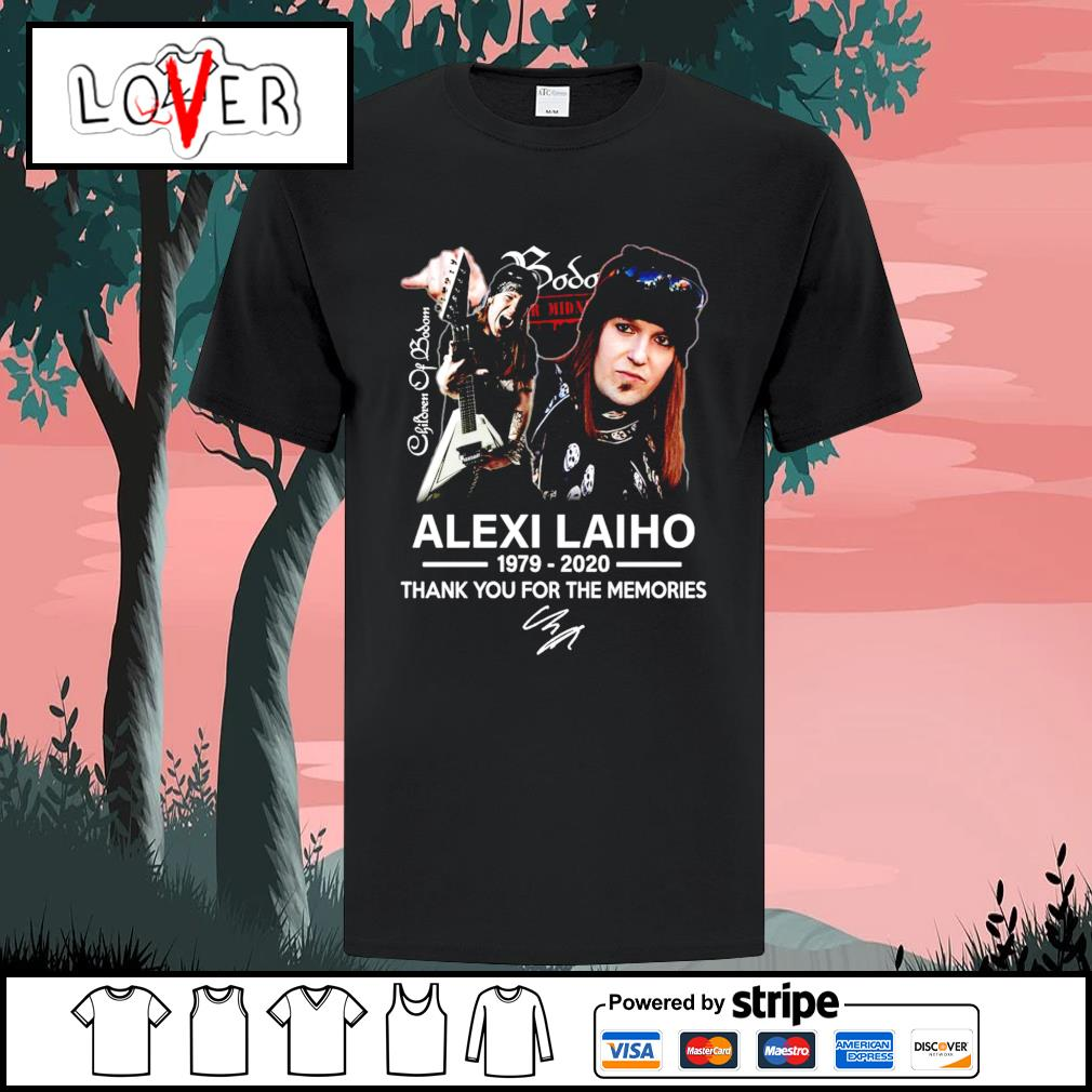 Children of Bodom Alexi Laiho 1979 2020 thank you for the memories signature shirt