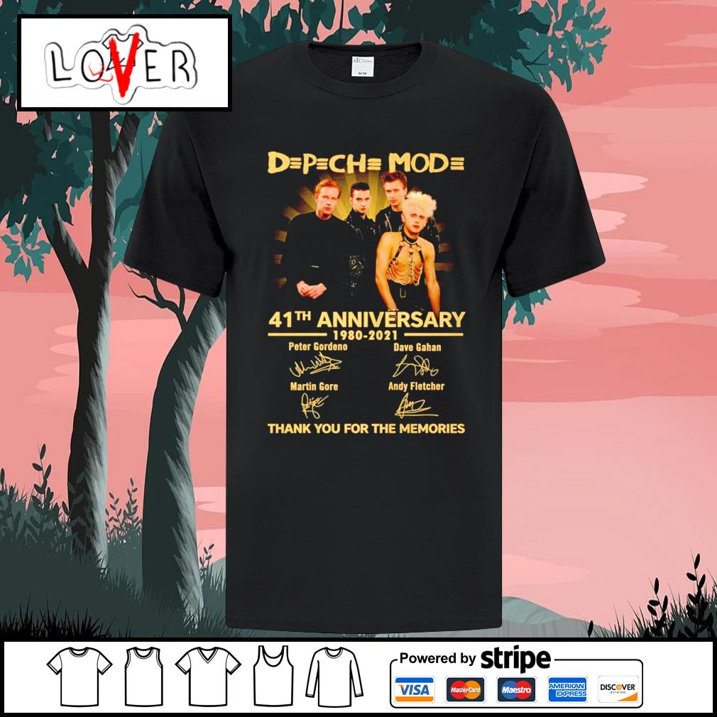 Depeche Mode 41 th anniversary 1980 2021 thank you for the memories signatures shirt