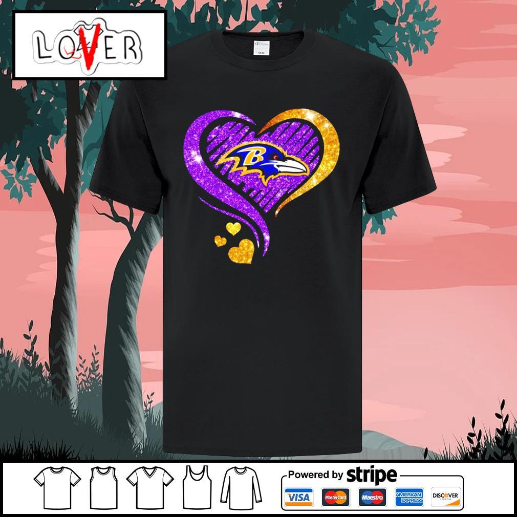 Diamond Heart Baltimore Ravens shirt