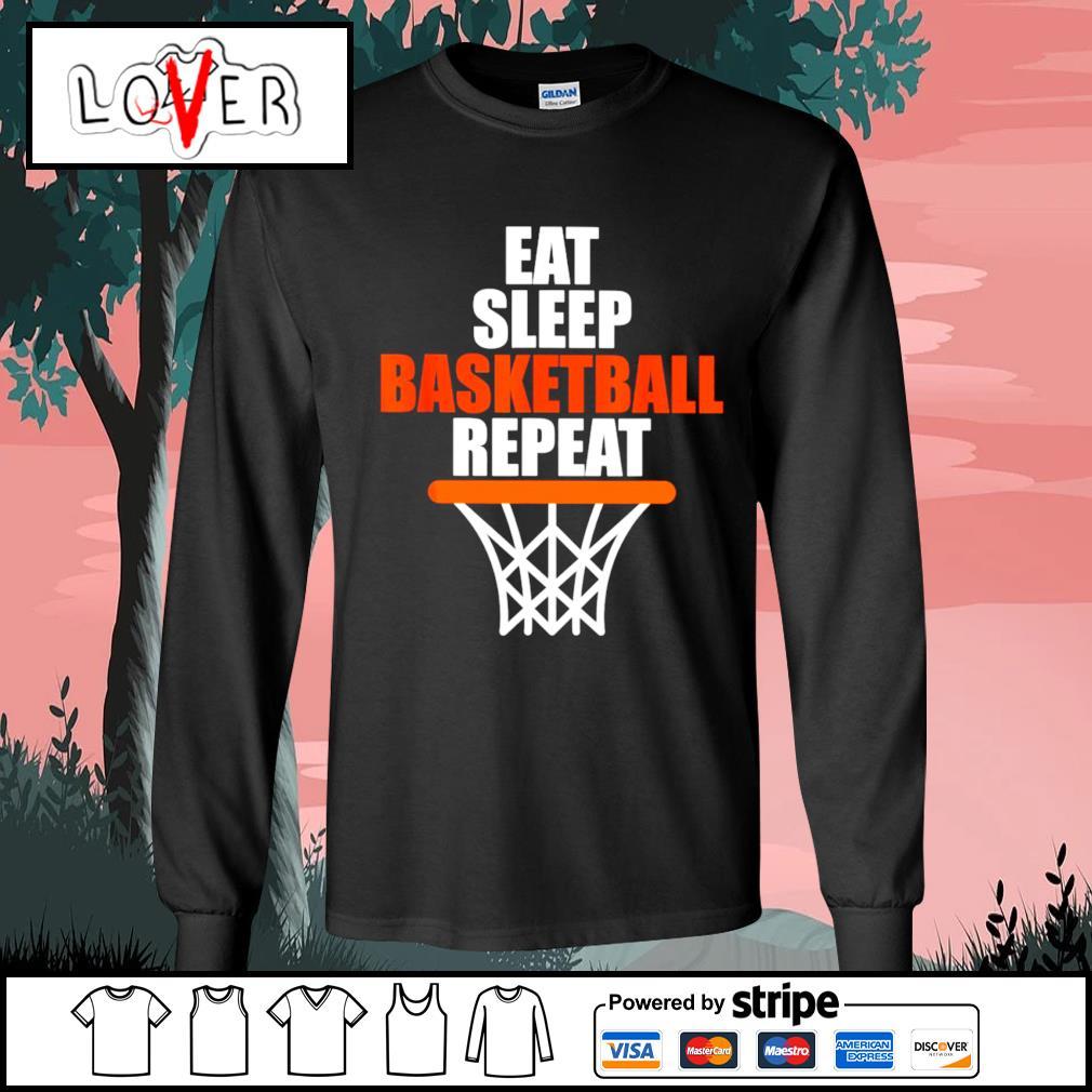 Eat sleep Basketball repeat s Long-Sleeves-Tee