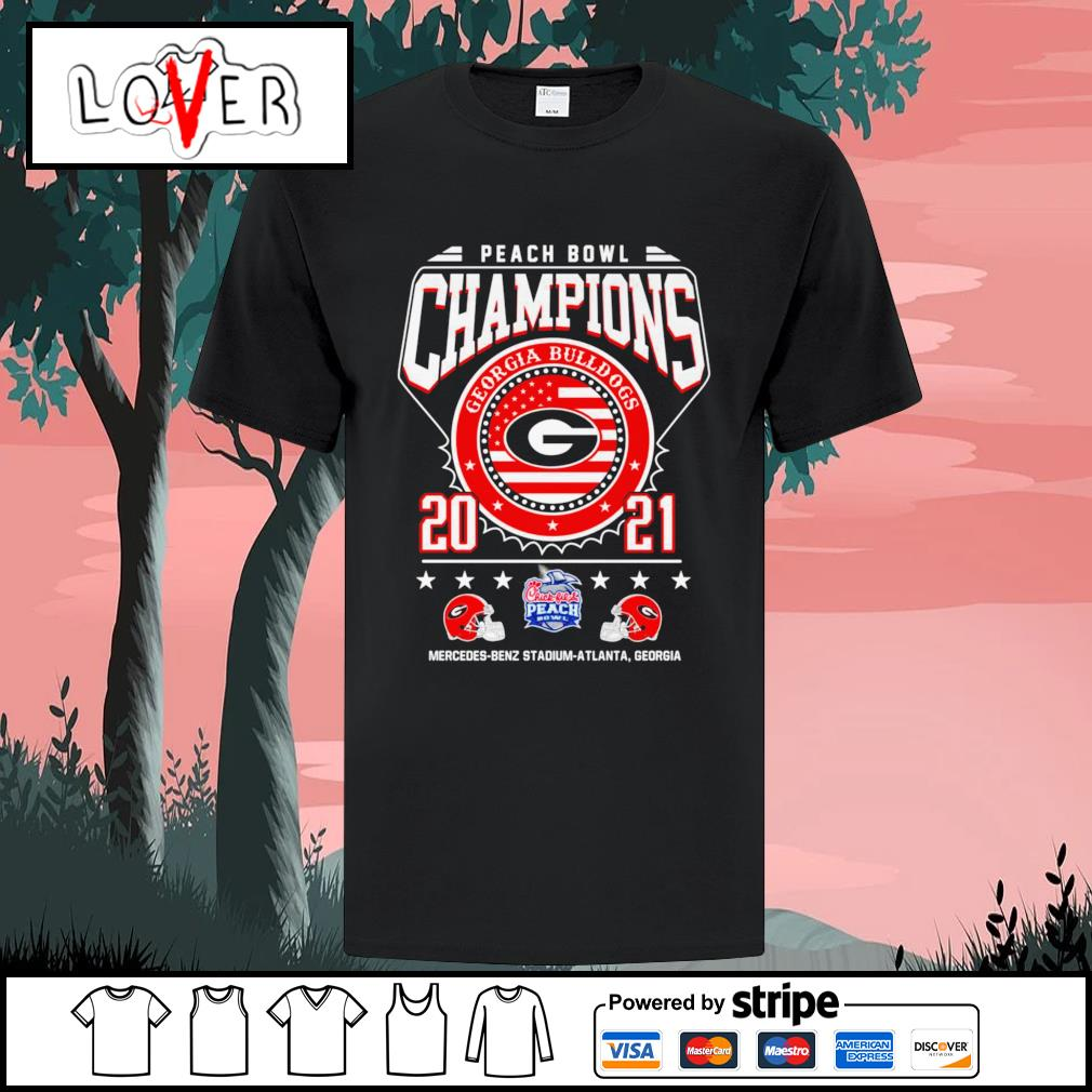 Georgia Bulldogs peach bowl champions 2021 shirt