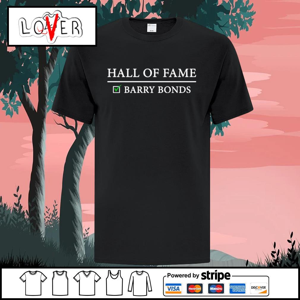 Hall of fame barry bonds shirt