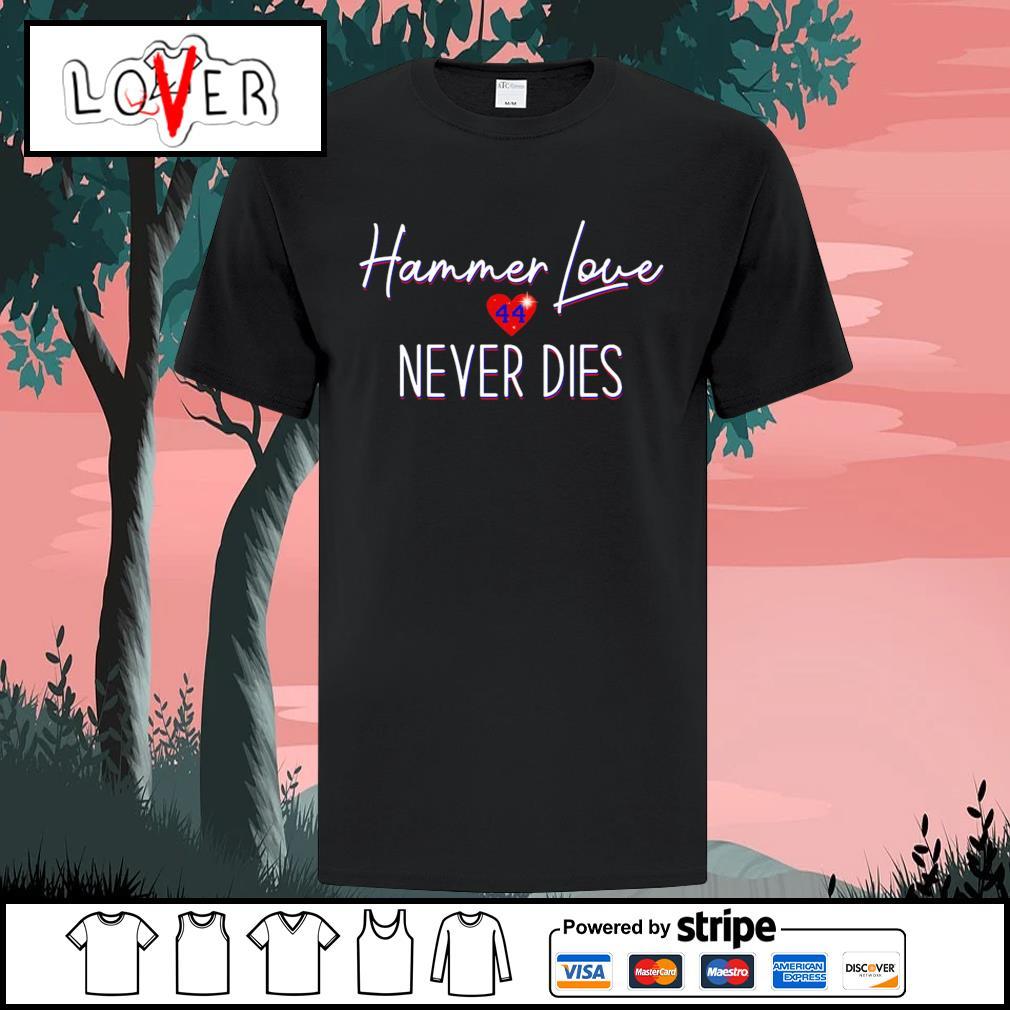 Hank Aaron Hammer love 44 never dies shirt