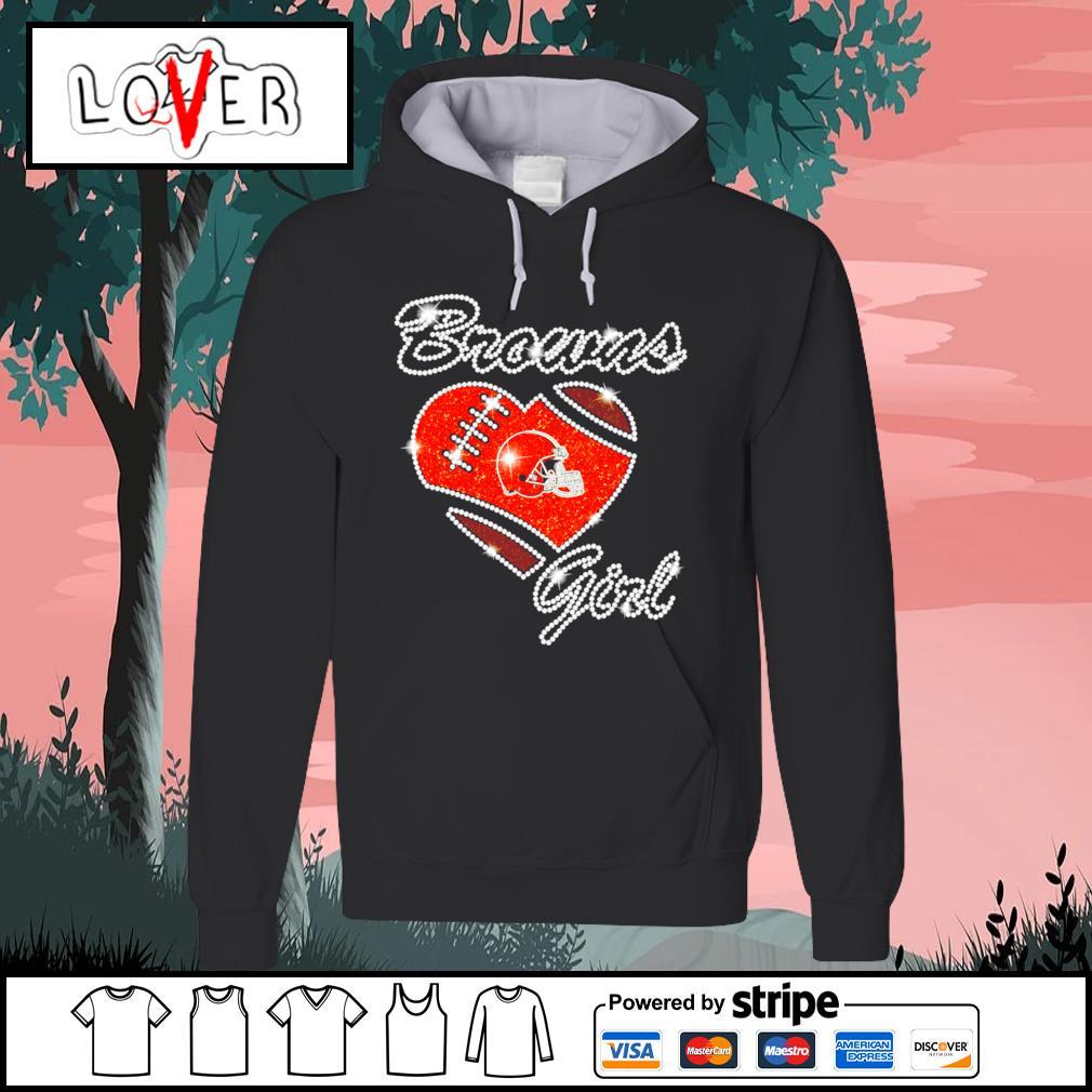Heart love Diamond Cleveland Browns girl s Hoodie
