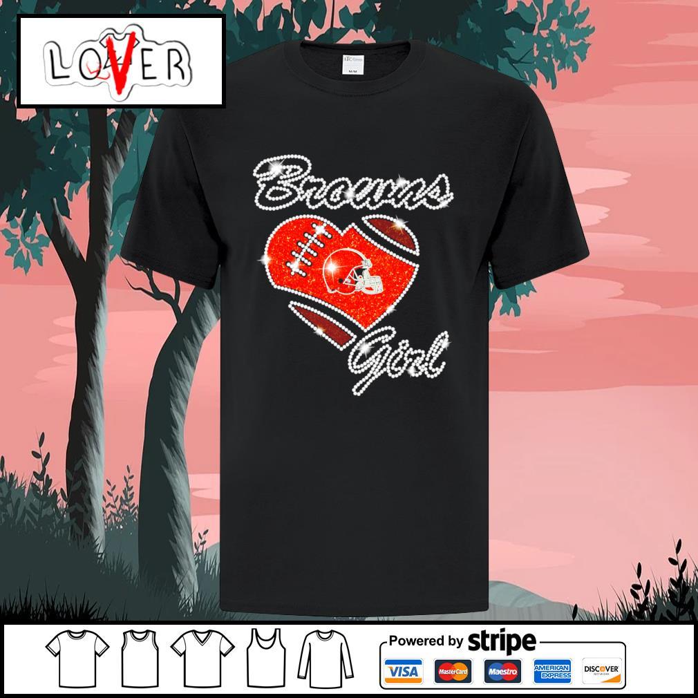Heart love Diamond Cleveland Browns girl shirt