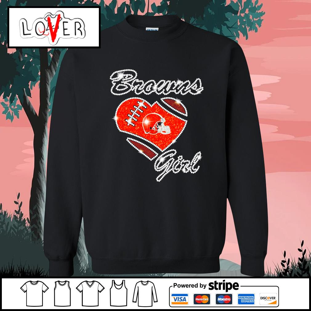 Heart love Diamond Cleveland Browns girl s Sweater
