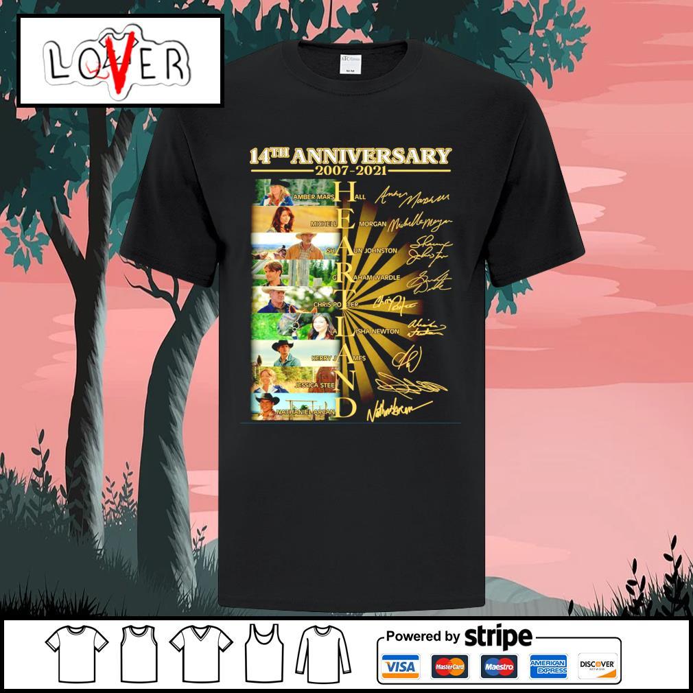 Heartland 14th anniversary 2007 2021 signatures shirt