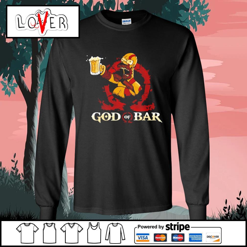 Homer Simpson god of war s Long-Sleeves-Tee