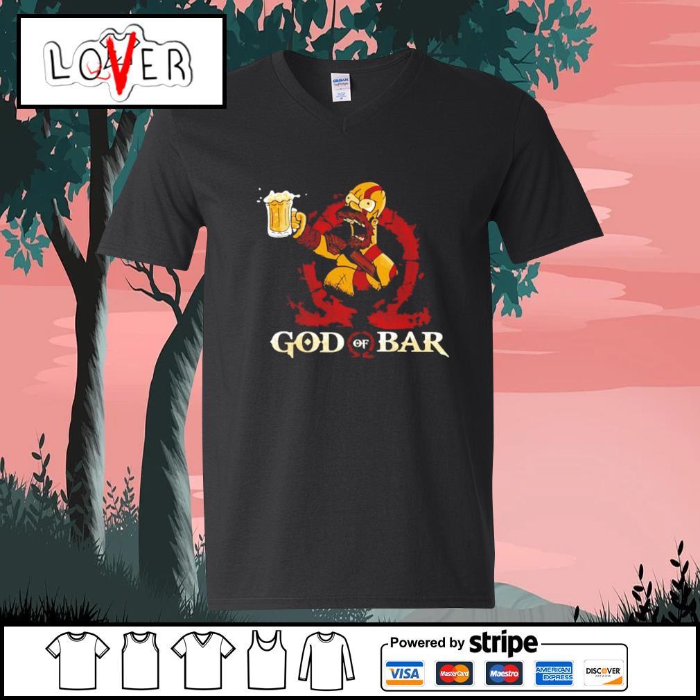 Homer Simpson god of war s V-neck-T-shirt