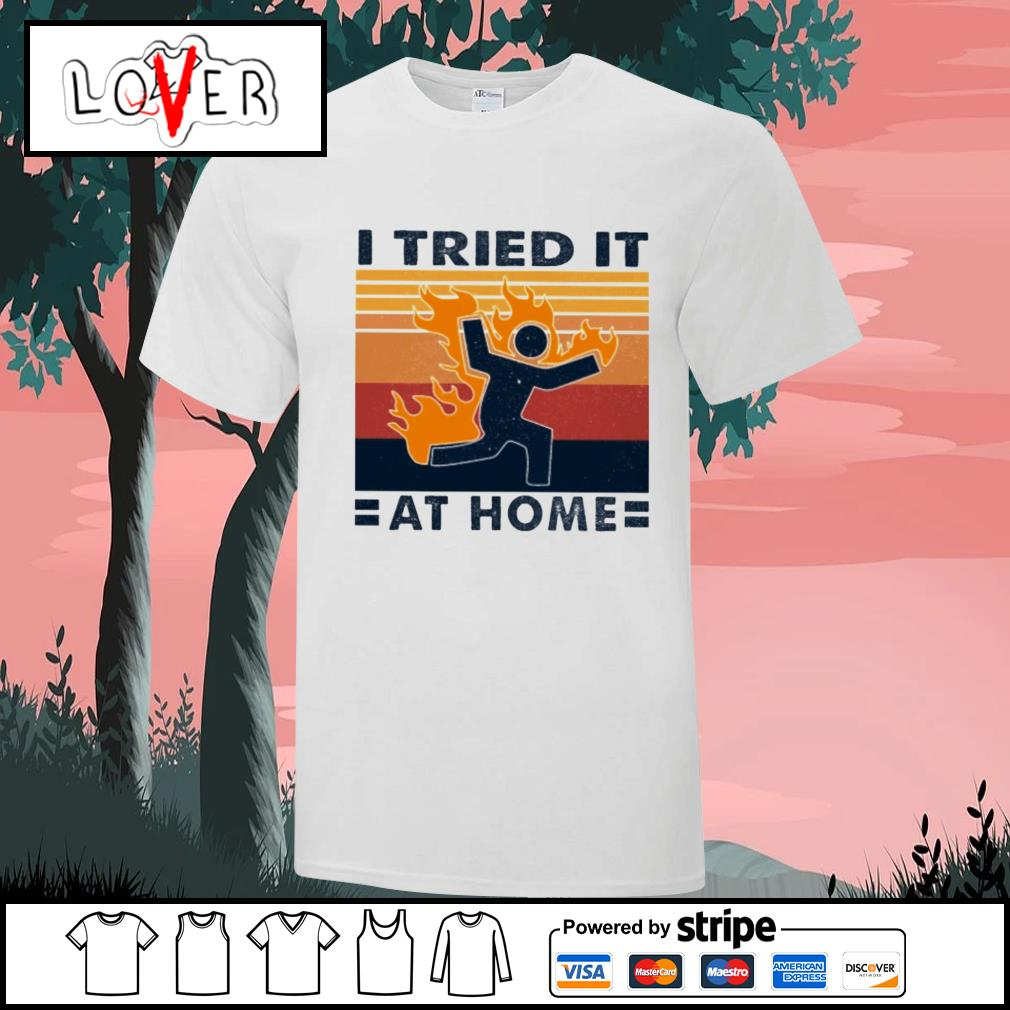 I tried it at home vintage shirt