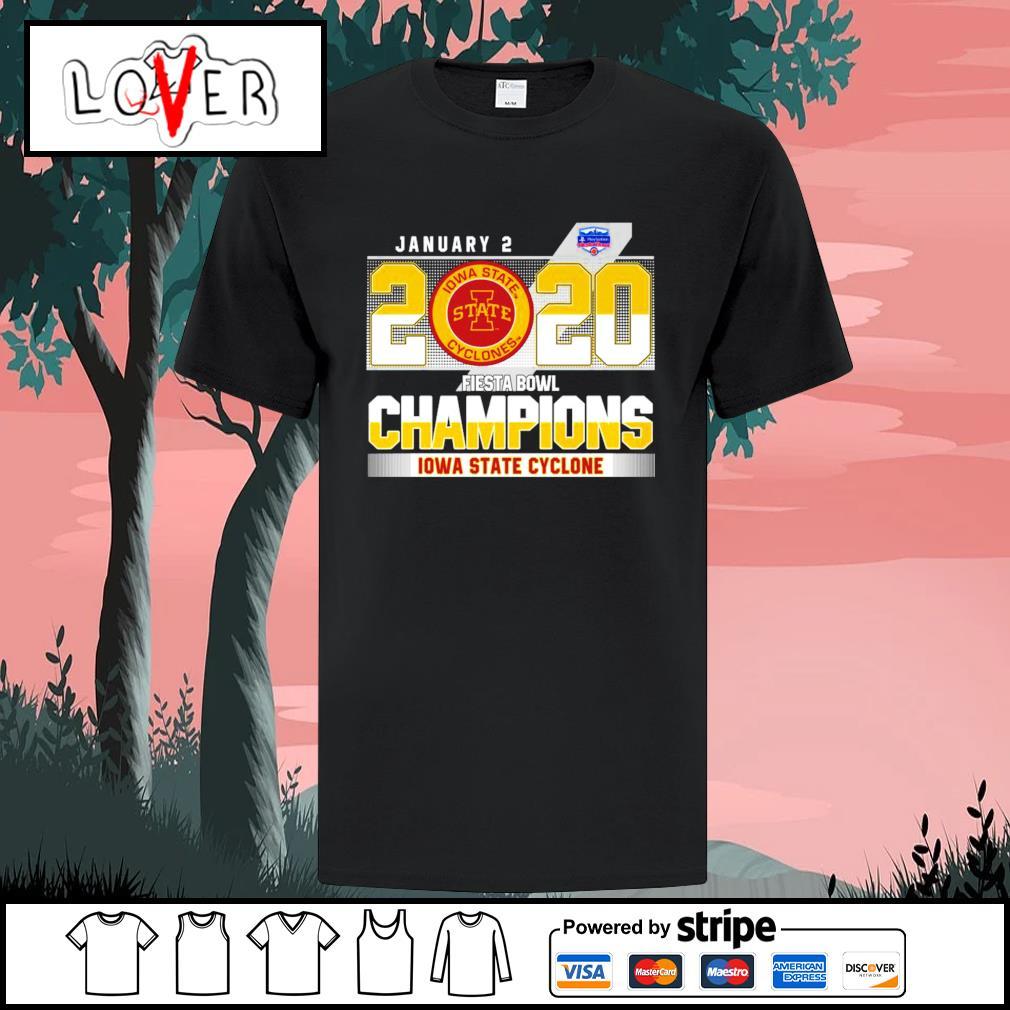 January 2 2020 fiesta bowl champions Iowa State Cyclone shirt