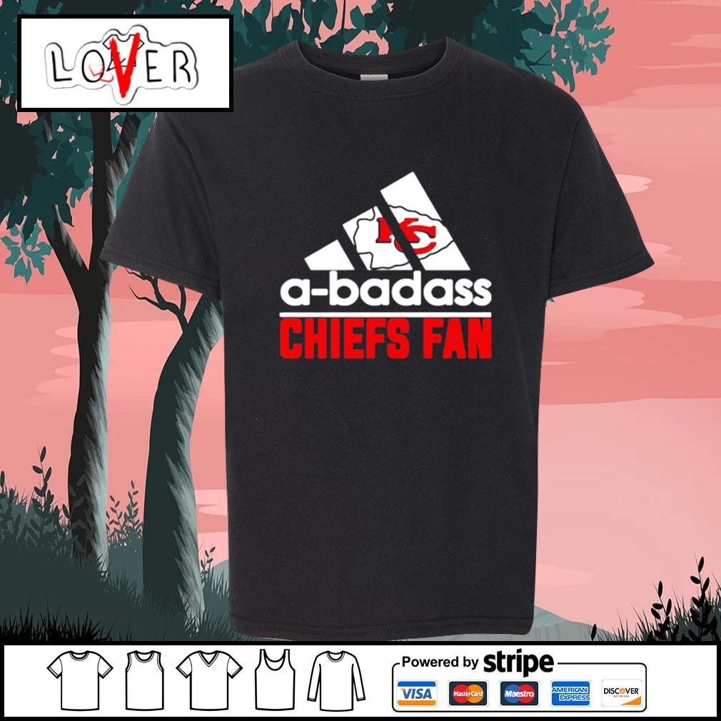 Kansas City Chiefs A-badass Chiefs fan Adidas s Kid-T-shirt
