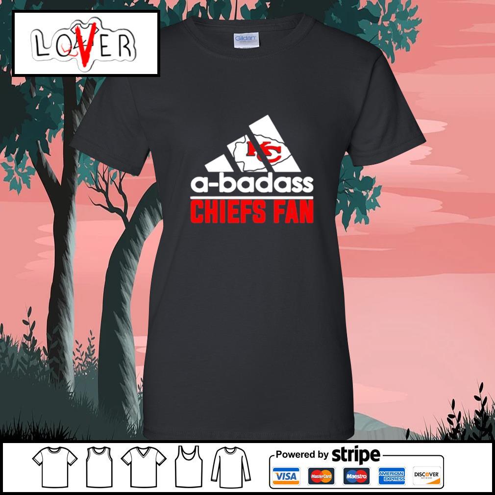 Kansas City Chiefs A-badass Chiefs fan Adidas s Ladies-Tee