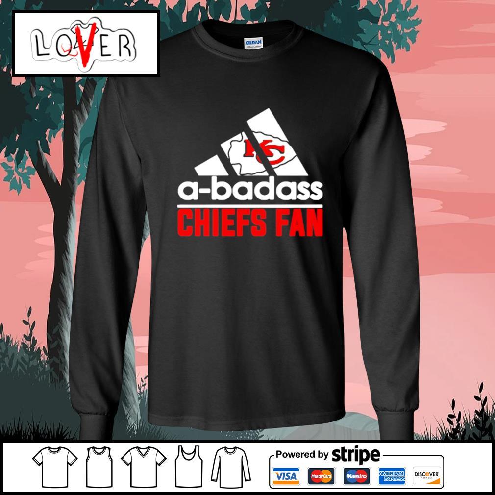 Kansas City Chiefs A-badass Chiefs fan Adidas s Long-Sleeves-Tee