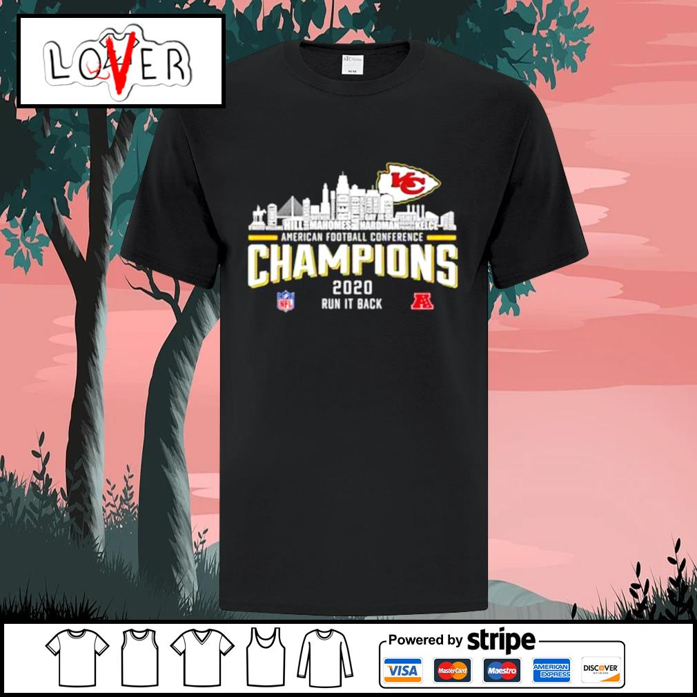 Kansas City Chiefs American football conference champions 2020 run it back shirt