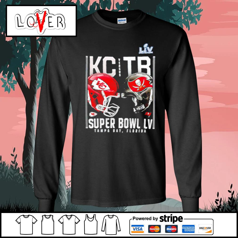Kansas City Chiefs and Tampa Bay Buccaneers Super Bowl LV s Long-Sleeves-Tee