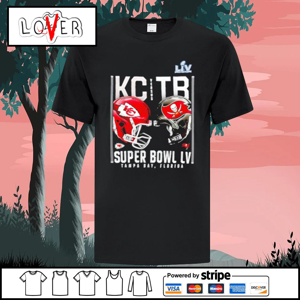 Kansas City Chiefs and Tampa Bay Buccaneers Super Bowl LV shirt