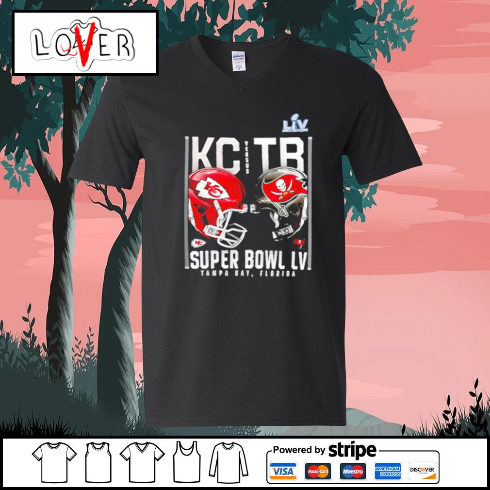 Kansas City Chiefs and Tampa Bay Buccaneers Super Bowl LV s V-neck-T-shirt