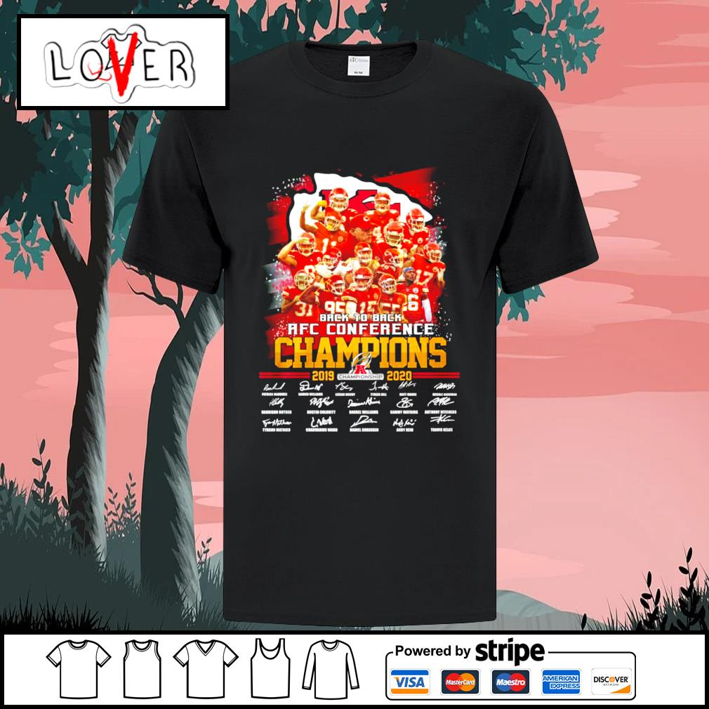 Kansas City Chiefs back to back AFC conference champions signatures shirt