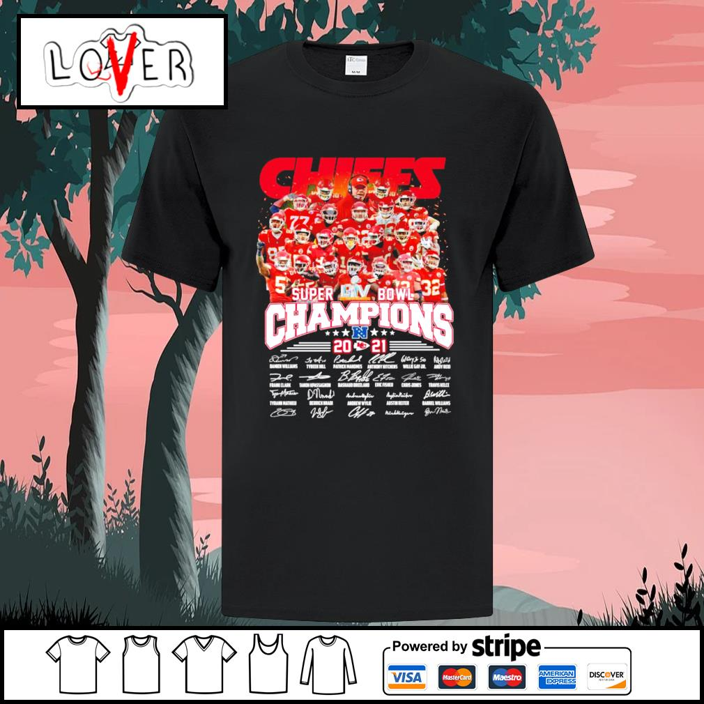 Kansas City Chiefs super bowl champions 2021 signatures shirt