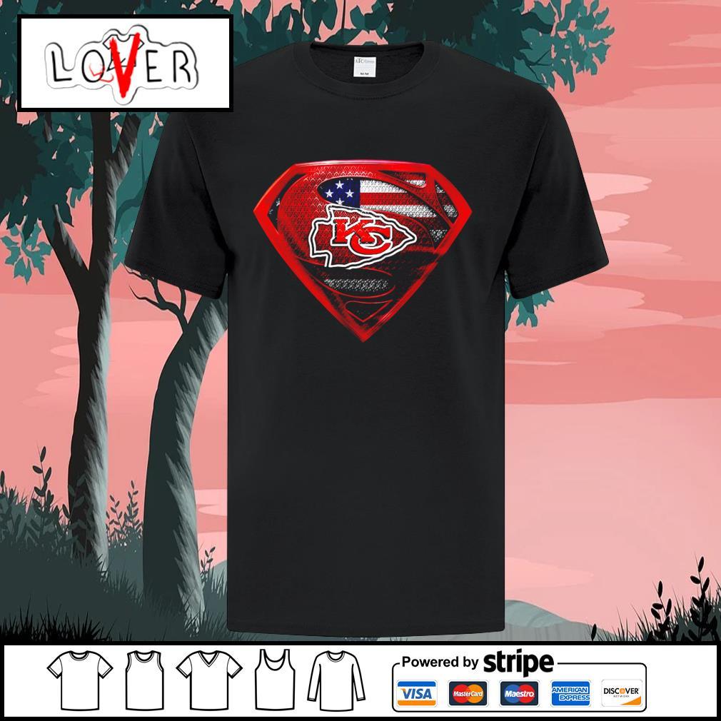 Kansas City Chiefs Superman American flag shirt