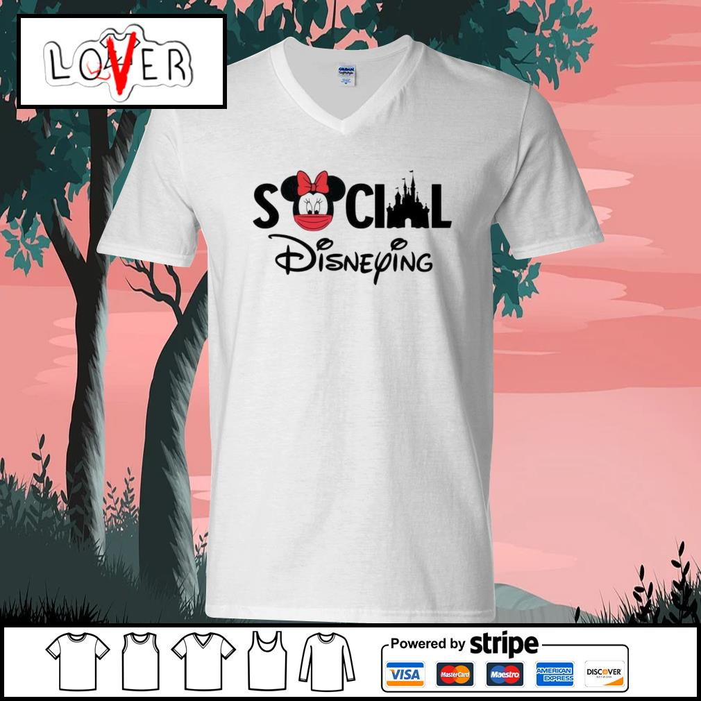 Minnie Mouse social Disneying s V-neck-T-shirt