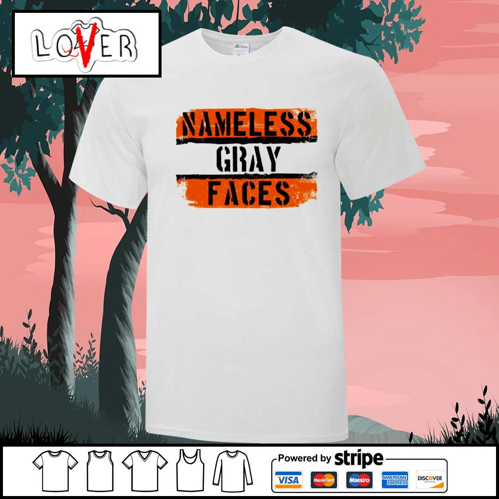 Nameless gray faces Cleveland Browns shirt