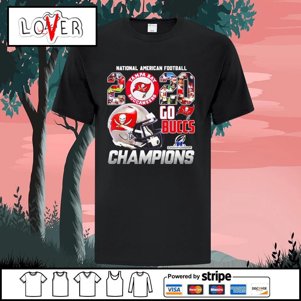 National American football go Tampa Bay Buccaneers Champions shirt