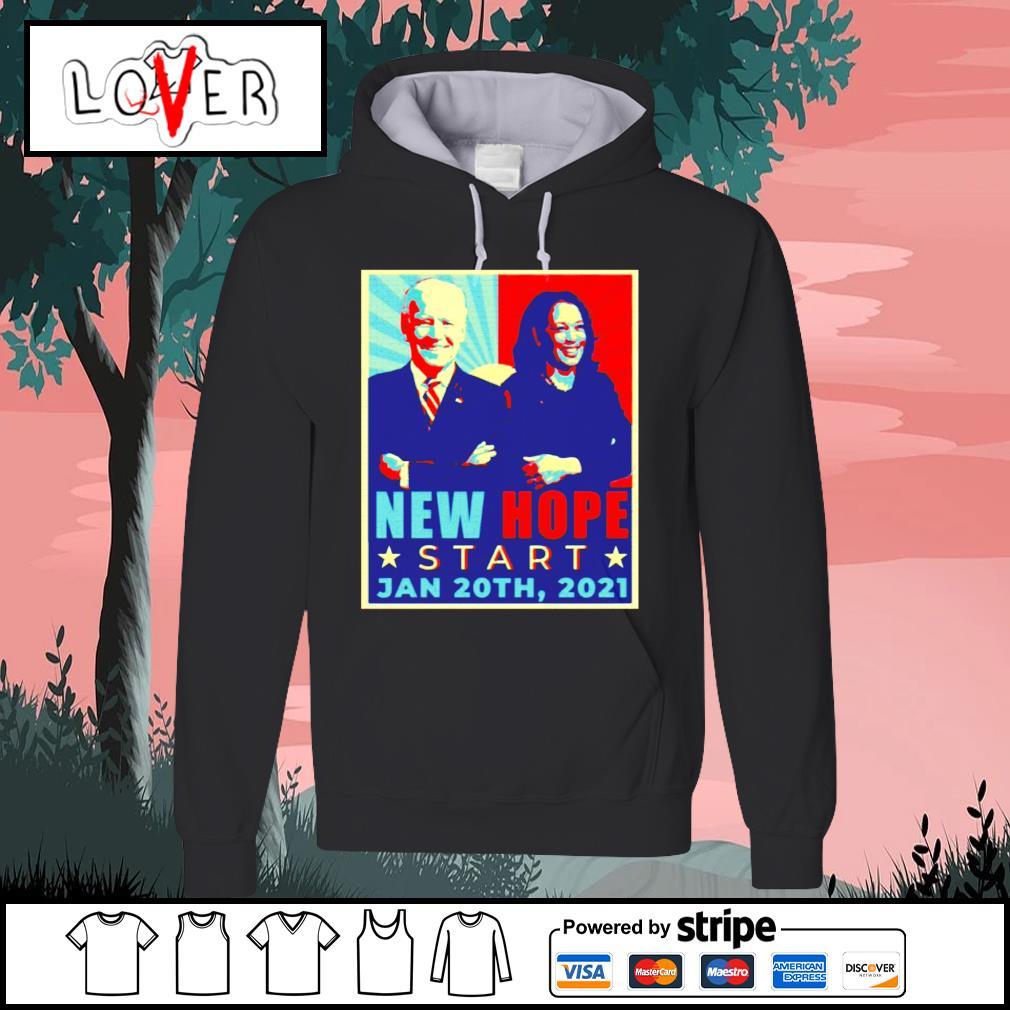 New hope start Jan 20th 2021 Joe Biden and Kamala Harris vintage s Hoodie