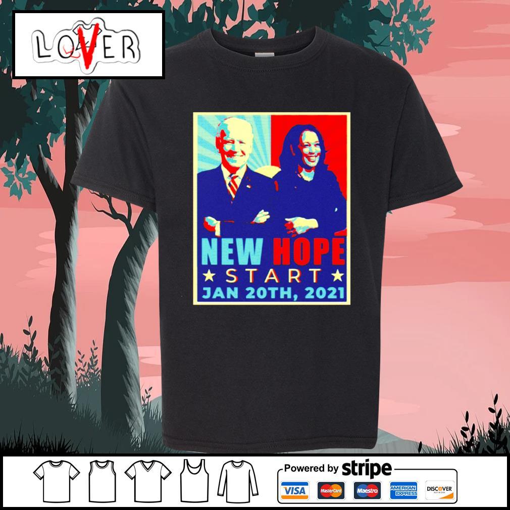 New hope start Jan 20th 2021 Joe Biden and Kamala Harris vintage s Kid-T-shirt