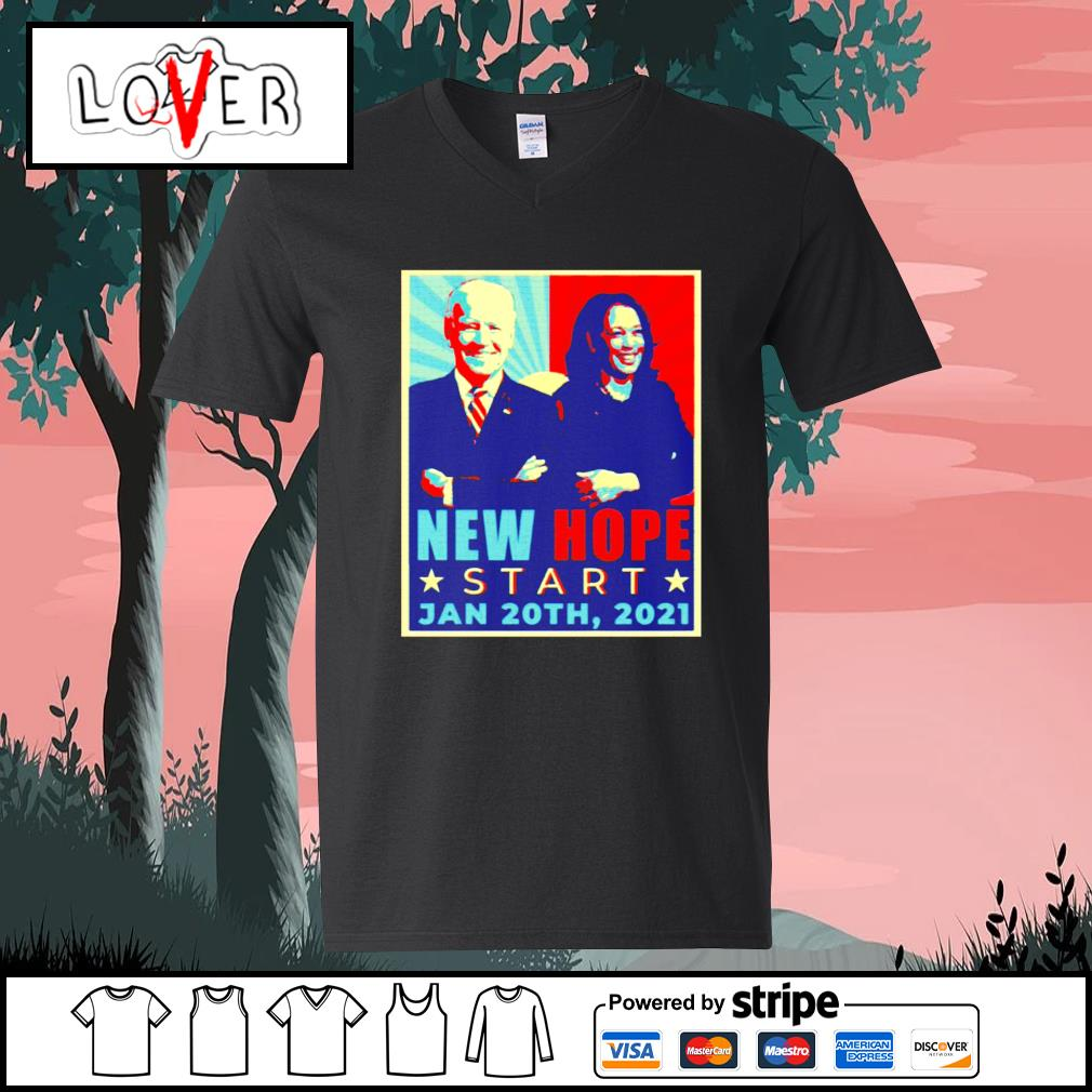 New hope start Jan 20th 2021 Joe Biden and Kamala Harris vintage s V-neck-T-shirt