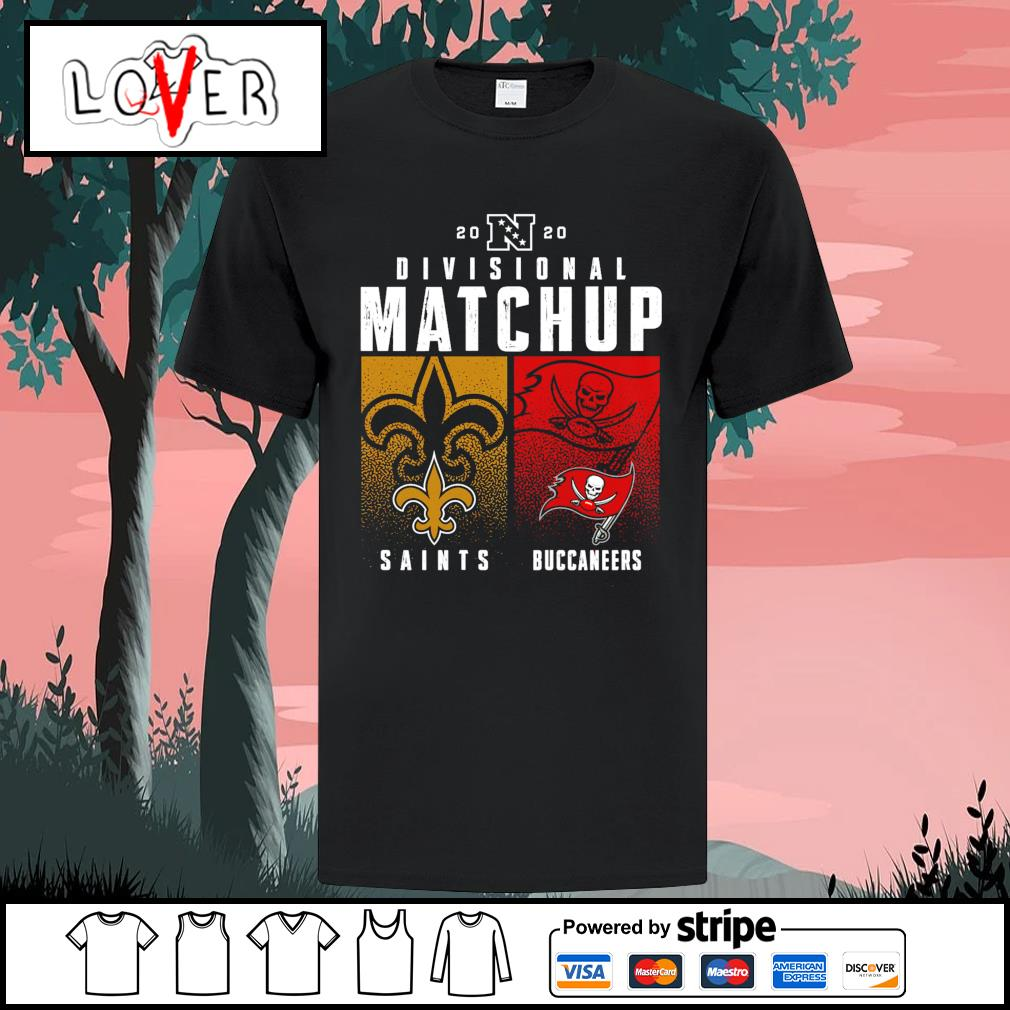 New Orleans Saints vs Tampa Bay Buccaneers 2020 NFL Playoffs Divisional Matchup shirt