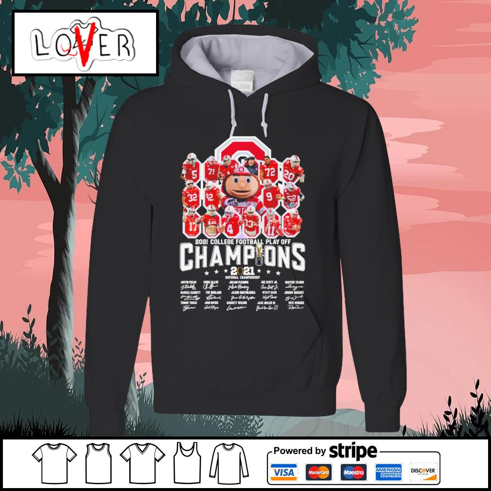 Ohio State Buckeyes 2021 college football play off champion 2021 national championship signature s Hoodie