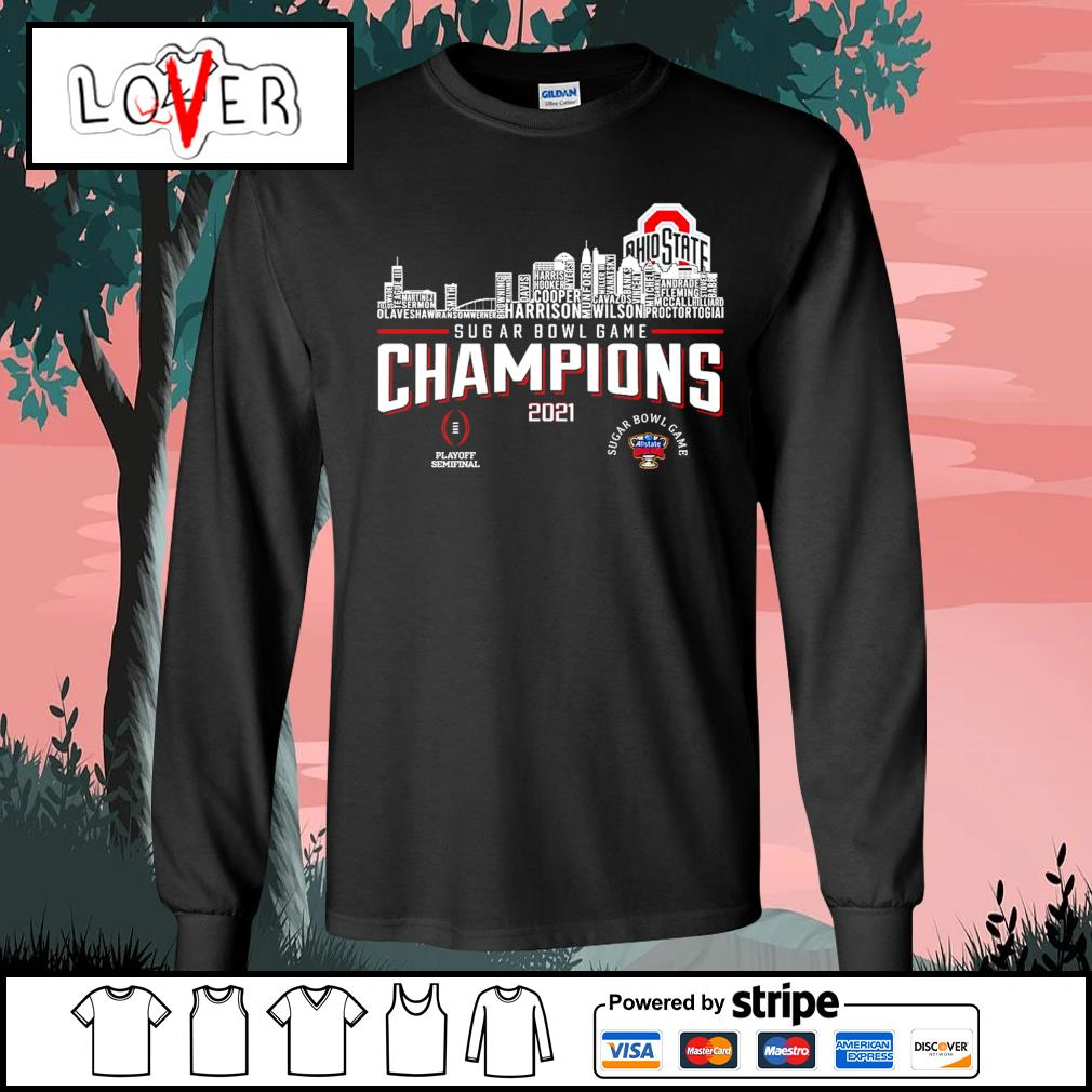 Ohio State Buckeyes rose bowl game champions 2021 s Long-Sleeves-Tee