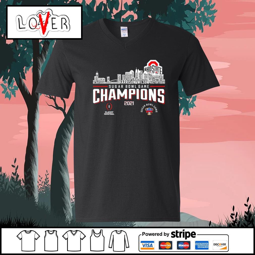 Ohio State Buckeyes rose bowl game champions 2021 s V-neck-T-shirt