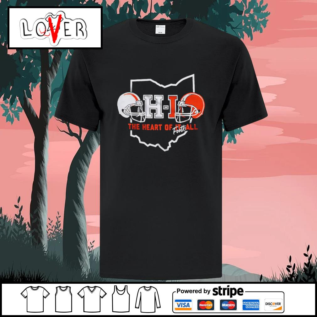 Ohio the heart of it all footh football shirt