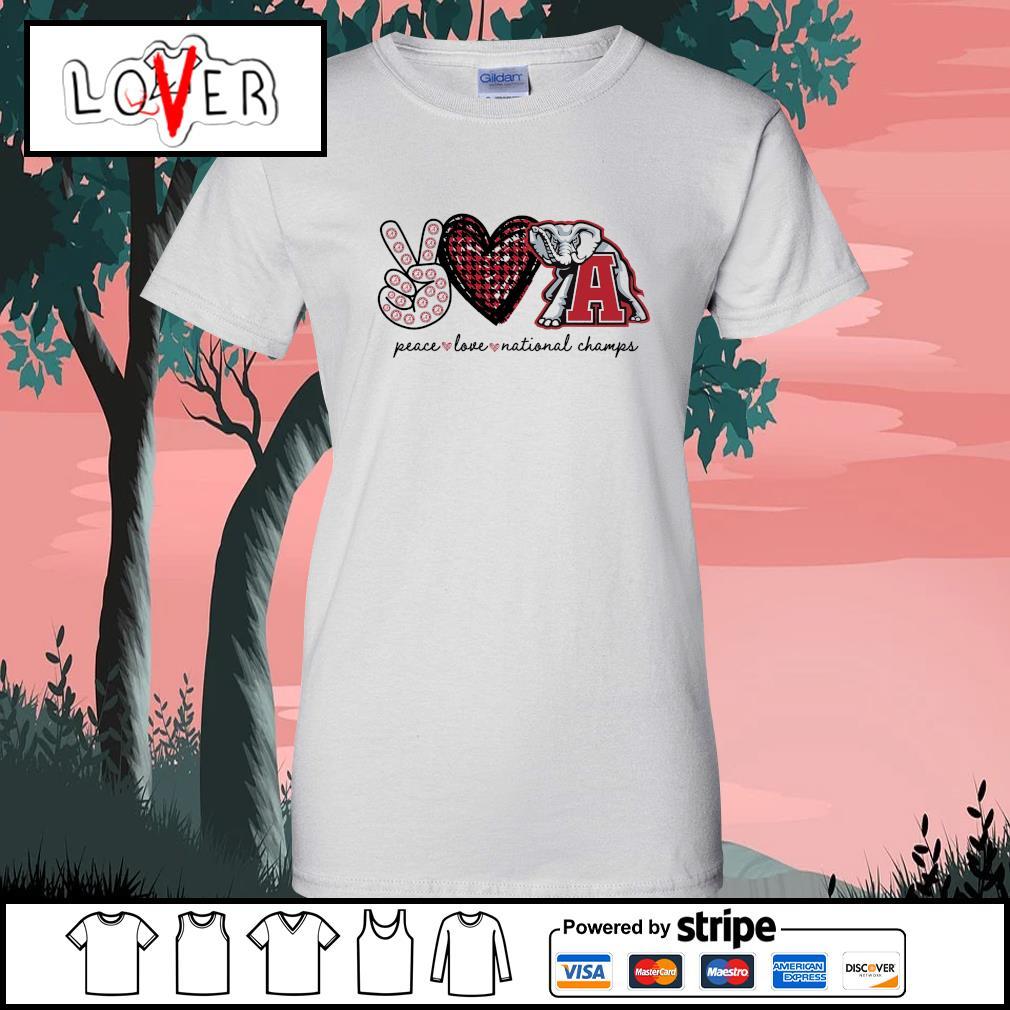 Peace love national champs Alabama Crimson Tide s Ladies-Tee